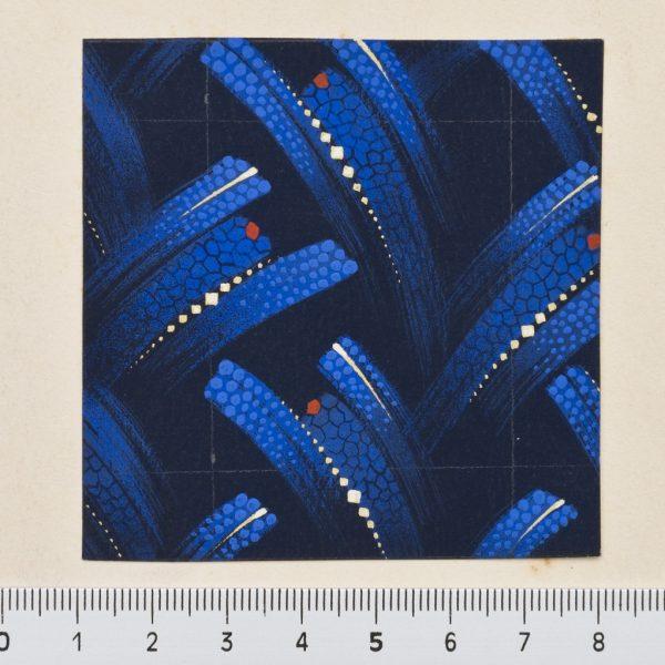 DS 129, disegno per cravatta, pittura su carta, 1934 - 1939