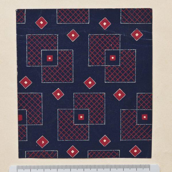 DS 152, disegno per cravatta, pittura su carta, 1934 - 1939