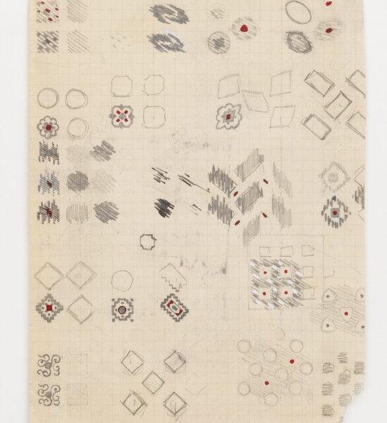 DS 215, disegno, matita su carta a quadretti