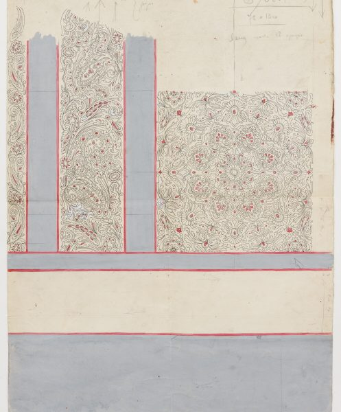 DS 228, disegno per stampa, tempera e china su cartoncino, 14/5/1949