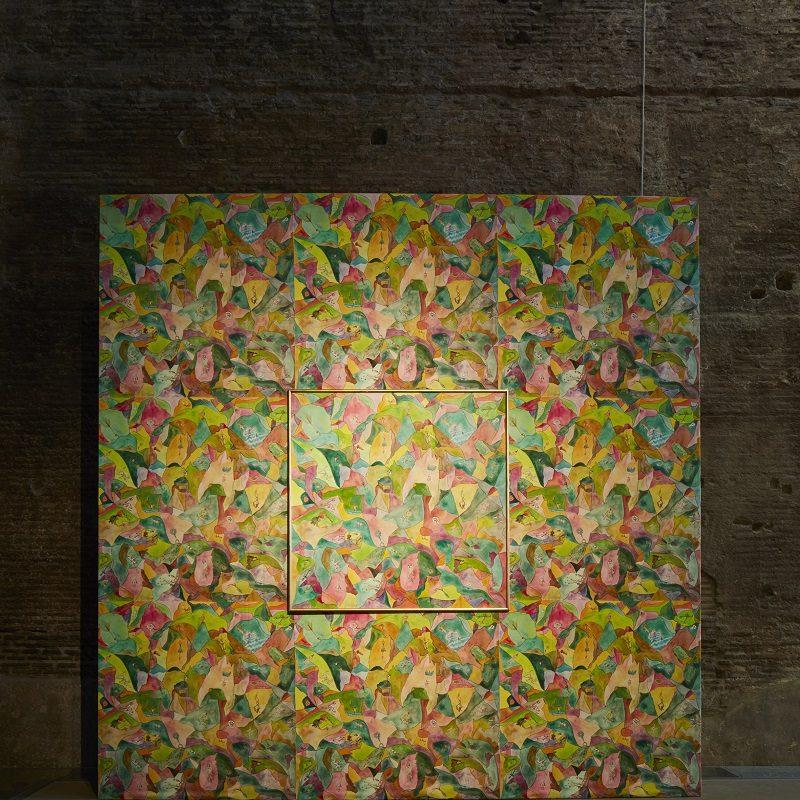 Luigi Ontani, Mostri comaschi su astri, 1989 Installation view, Terme di Diocleziano, Roma, 2018 ph. Agostino Osio