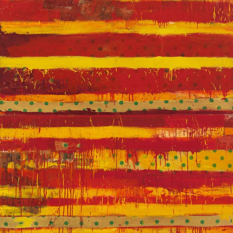 Robert Rauschenberg (1925-2008), Yoicks, 1954. Enamel on collaged polyester, found paper, and cotton on canvas, 96 1/8 × 72 1/16 in. (244.2 × 183 cm). Whitney Museum of American Art, New York; gift of the artist 71.210. © 2019 Robert Rauschenberg Foundation / Licensed by VAGA at Artists Rights Society (ARS), New York