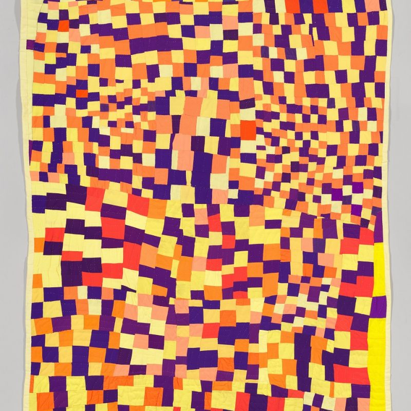 Rosie Lee Tompkins (1936-2006), Three Sixes, 1986. Quilted polyester double-knit, wool jersey and cotton, 89 3/4 × 71 1/2 in. (228 × 181.6 cm). Whitney Museum of American Art, New York; purchase with funds from the Contemporary Painting and Sculpture Committee 2003.70. © Estate of Rosie Lee Tompkins